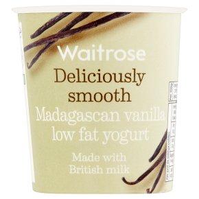Waitrose deliciously smooth madagascan vanilla low fat yogurt