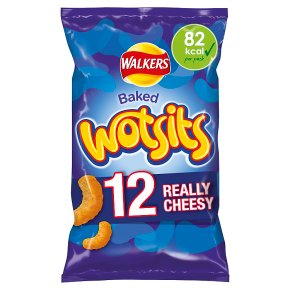Walkers Wotsits really cheesy multipack crisps