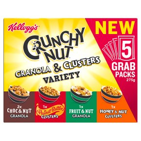 Kellogg's Crunchy Nut Granola & Clusters Variety 5 Pack