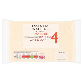 essential Waitrose English Mature Cheddar Strength 4