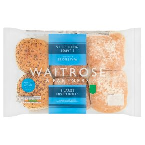Waitrose large mixed rolls