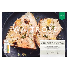Waitrose Ray Wings with Lemon Butter, Capers & Parsley