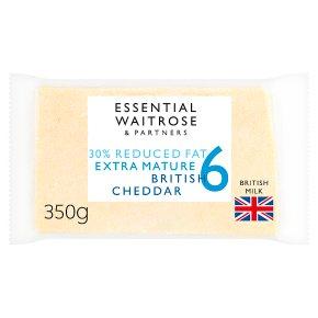 essential Waitrose 30% Lighter Extra Mature Cheese 6