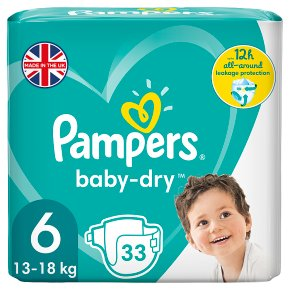 Pampers baby-dry 6 extra large 15+ kg