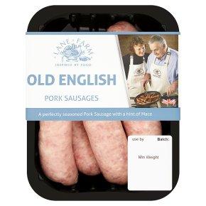 Lane Farm old English pork sausage