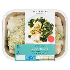 Easy to Cook cod fillets with a crème fraiche