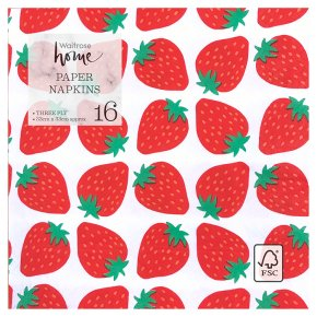 Waitrose Strawberry Napkins 33cm x 33cm