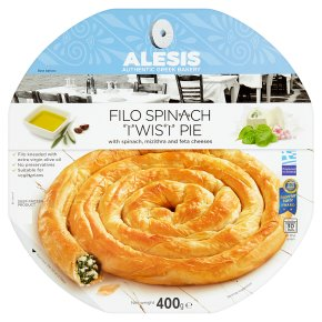 Alesis Filo Spinach Twist Pie