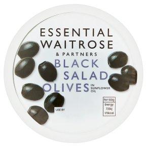 essential Waitrose Black Salad Olives