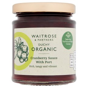 Duchy Originals from Waitrose organic cranberry sauce with port