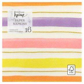 Waitrose Stripe Napkins 33cm x 33cm