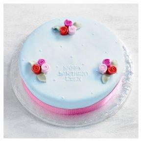 Astonishing Fiona Cairns Blue Vintage Rose Cake Waitrose Partners Funny Birthday Cards Online Inifofree Goldxyz