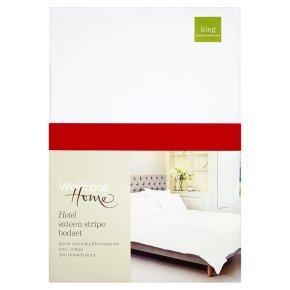 Waitrose Home Hotel Sateen Stripe Bedset