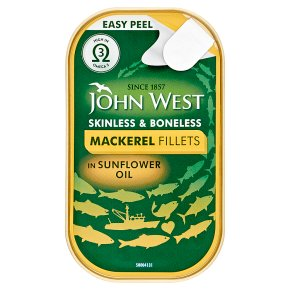 John West mackerel fillets in sunflower oil