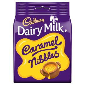 Cadbury Dairy Milk caramel nibbles chocolate bag