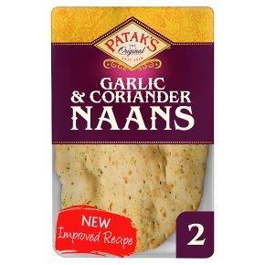Patak's Garlic & Coriander Naans