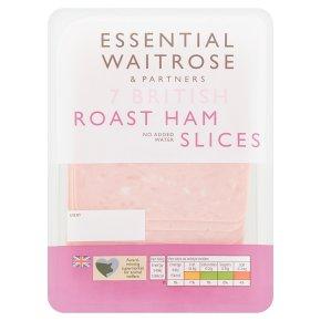 Essential Waitrose 7 British Roast Ham Slices