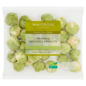 Waitrose Trimmed brussels sprouts