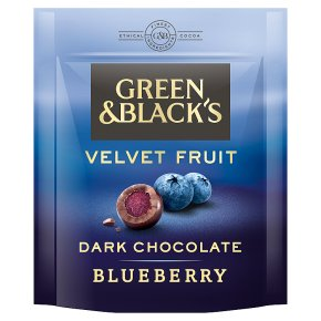Green & Black's Dark Chocolate Blueberry Pearls Bag