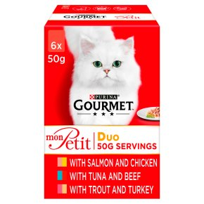 Gourmet Mon Petit Cat Food Pouches Duo Mixed