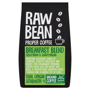 Raw Bean Mexican ground coffee single origin