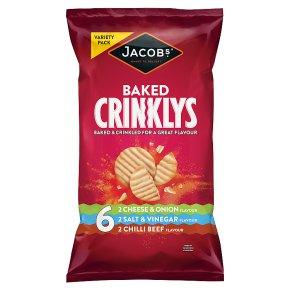 Jacobs crinklys variety 6 pack