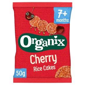 Organix cherry rice cakes