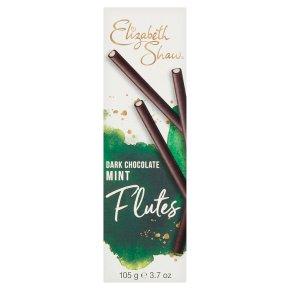 Elizabeth Shaw dark chocolate mint flutes