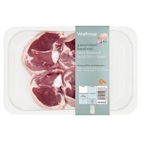 Waitrose 4 hand cut New Zealand lamb loin chops