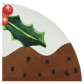 Waitrose Home Christmas Pudding Napkins 33cm x 33cm