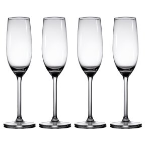 Waitrose Dining Chefs' Entertaining champagne flutes, pack of 4