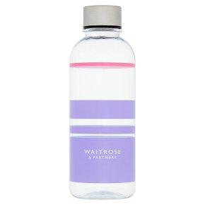 Waitrose Tritan Water Bottle Purple Stripe