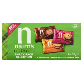 Nairn's oat biscuits 9 handy packs