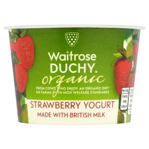 Waitrose Duchy Organic strawberry yoghurt