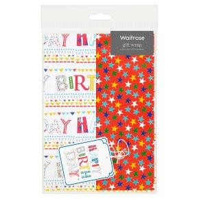 Waitrose Happy Birthday Gift Wrap