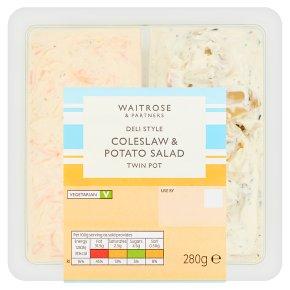 Waitrose Coleslaw & Potato Salad Twin Pot