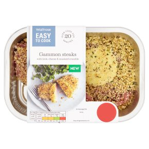 Easy To Cook Gammon Steaks with Leek Crumble
