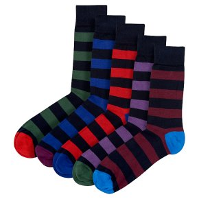 Waitrose Cotton Rich Rugby Stripe Ankle
