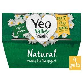 Yeo Valley 4 organic natural yogurts