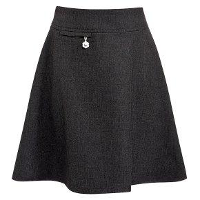 Girls A-line skirt, grey, 4 years