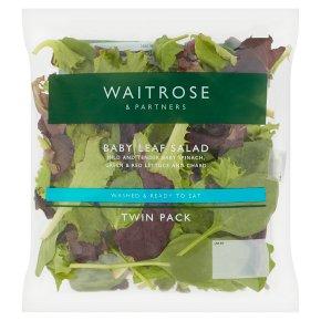 Waitrose babyleaf salad twinpack