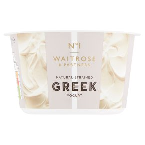 Waitrose 1 Greek natural strained yogurt