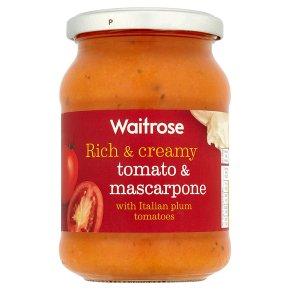 Waitrose tomato & mascarpone pasta sauce