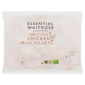 essential Waitrose Frozen British chicken mini fillets