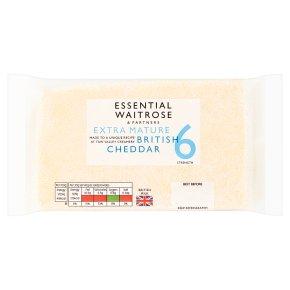essential Waitrose English Extra Mature Cheddar Strength 6