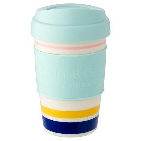 Waitrose Blue Stripe Coffee Cup