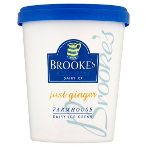 Brookes Just Ginger Ice Cream