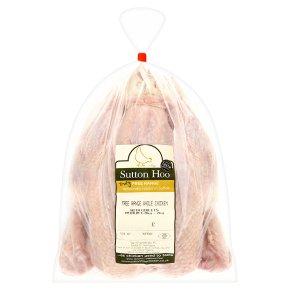 Sutton Hoo Free Range medium chicken with giblets (1.8-2kg)