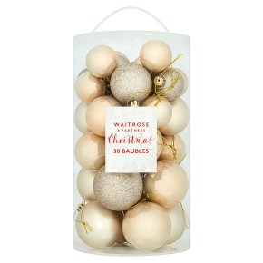 Waitrose Christmas Gold Baubles