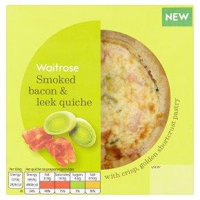 Waitrose Smoked Bacon & Leek Quiche
